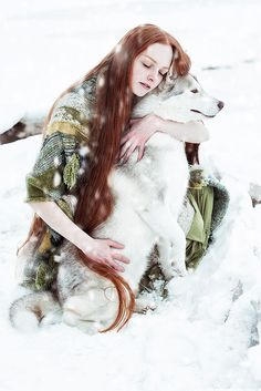 Winter Songs by Alexandra Bochkareva - Photo 198986597 / Fantasy Photography, Animal Photography, Photografy Art, Animals Beautiful, Cute Animals, Wolves And Women, Winter Songs, Redheads, Character Inspiration