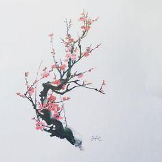 매화 :-) - #타투 #그라피투 #타투이스트리버 #디자인 #그림 #디자인 #아트 #일러스트 #tattoo #graffittoo #tattooistRiver #design #painting #drawing #art #Korea #KoreaTattoo #매화타투 #flowertattoo #동양화타투