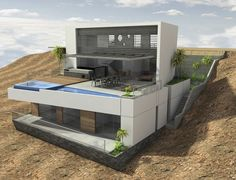 Vertice Arquitectos have designed a house situated above Palillos Beach, located south of Lima, Peru