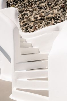 Discover the Photo Gallery of Kirini Santorini and view photos of the suites, the experiences, the accommodation, the spa as well as architecture details. Mediterranean Architecture, Architecture Details, Stair Detail, Outdoor Stairs, Villa Design, River House, Dream Rooms, Santorini, View Photos