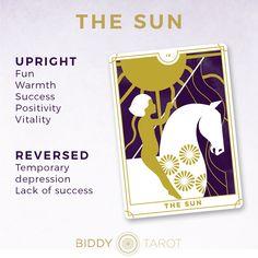 Learn the Tarot card meanings with Biddy Tarot | The Sun | Major Arcana | Everyday Tarot #tarot
