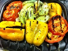 Roasted vegetables cooked on George Foreman