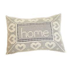 Filet Crochet Custom Pillow