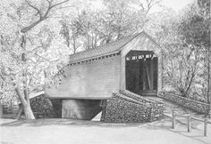 Old Frederick Road Loys Station Covered Bridge MD by michael martin on ARTwanted Art Drawings Sketches, Drawing Art, Drawing Tips, Easy Drawings, Animal Drawings, Colored Pencil Techniques, Wood Burning Patterns, Black And White Drawing, Old Barns
