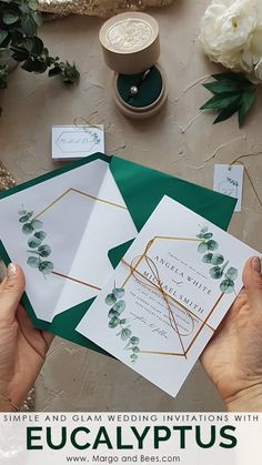 Simple wedding invitations with - perfect for weddings . - Simple wedding invitations with – perfect for Wedding # … – Simple we - Shine Wedding Invitations, Glitter Invitations, Handmade Wedding Invitations, Watercolor Wedding Invitations, Wedding Invitation Design, Wedding Stationery, Simple Weddings, Wedding Simple, Elegant Wedding
