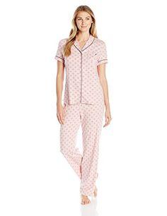 909626a9e6 Nautica Women s Short Sleeve Pajama Set