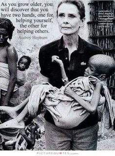 Audrey Hepburn. A great lady and beautiful right to the end.