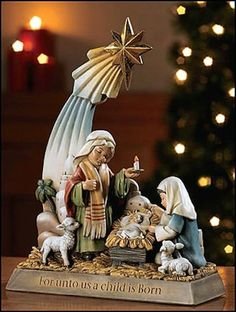 Jesus A Child Is Born Christmas Nativity Statue – Beattitudes Religious Gifts