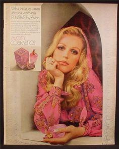 Magazine Ad For Avon Cosmetics, Elusive Fragrance, Perfume, Intrigues A Man, 1969 Pub Vintage, Vintage Avon, Vintage Perfume, Vintage Glamour, Vintage Beauty, Vintage Labels, Vintage Makeup Ads, Retro Makeup, Propaganda Coca Cola