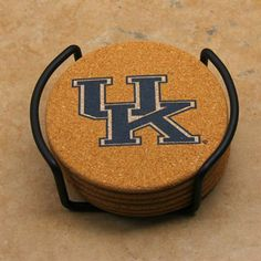 #Fanatics  Kentucky Wildcats Set of 6 Cork Coasters With Metal Holder