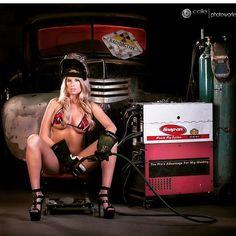 Výsledek obrázku pro welding pin up girl
