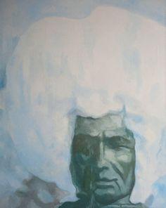 "Saatchi Online Artist: Marek Hospodarsky; Oil 2013 Painting ""Snowman"""