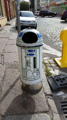 R2-D2 trash can, Poland