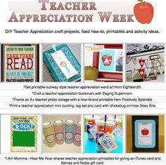 16 diy teacher appreciation project tutorials- many complete with tutorials!