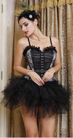 f06fe2cd56f Corset   Pettiskirt Sets Gothic Corset Costumes