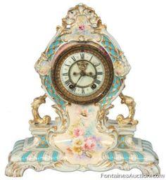 Ansonia Royal Bonn China Clock – LOT 140 Estimate: $500 – $750 Ansonia Royal Bonn China Clock  Antique Clock Auction, November 23rd 2013 ...