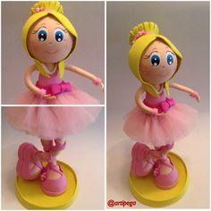 Fofucha bailarina con tutú rosa