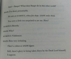 The Cursed Child - Snape is the queen of sass