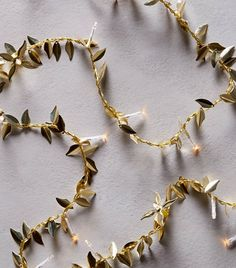 Anthropologie Gilded Garland String Lights ($38)
