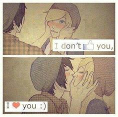 I don't like you i love you josh Tumblr Couples, Anime Couples, Cute Couples, Emo Couples, I Dont Like You, Love You, Amor Emo, Emo Love, Emo Guys