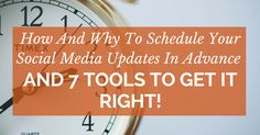 For more social media marketing success you should consider scheduling social media updates. Keep your accounts active for better results with these tools