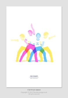 Sweet Disco Skills Print by TheArtLoungeUK on Etsy
