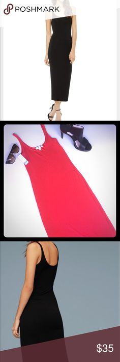 Aritzia Babaton-Freddie FieryRed dress NWTs SEXY Aritzia Babaton stunning Fiery Red Freddie dress-NWTs✨ this dress is a perfect staple piece addition to every summer wardrobe☀️ so easy to dress up or down, and still look drop dead gorgeous! Stretch material and very soft. ( this dress is red, model shown in black). ( this purchase comes with mystery gift ) reasonable offers accepted!!  Aritzia Dresses Maxi