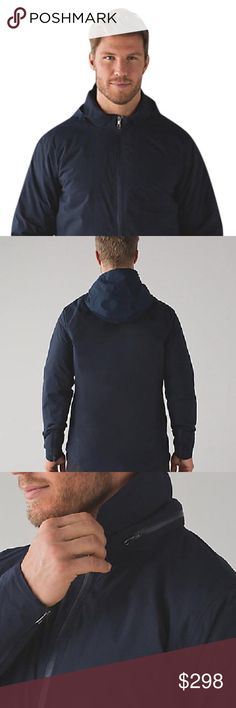 New!!!  Stowen Thermo Shell Jacket ** PRICE FIRM **  Color: Nautical Navy Style: Stowen Thermo Shell Say goodbye to transitional weather woes--this waterproof shell provides lightweight warmth to keep you at just the right temperature. lululemon athletica Jackets & Coats Windbreakers