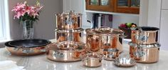New group shot of the range with upcoming products: stockpot, sauté pan, mini fry pan and mini casserole. Competition Giveaway, Kitchen Must Haves, Copper Pots, Product Launch, Giveaways, Cookware, Casserole, Heaven, Range