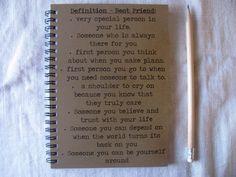 Definition Best Friend 5 x 7 journal by JournalingJane on Etsy