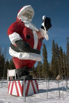 Fairbanks City Tour – During the tour you will visit Santa Claus at his home in North Pole, and buy some Alaska souvenirs and Christmas decoration. Santa Claus House, Santa Clause, Fairbanks Alaska, Visit Santa, Santas Workshop, North Pole, All Things Christmas, Vintage Christmas, Christmas Decorations