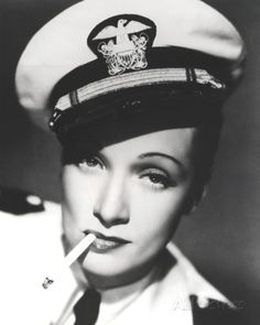 """Marlène DIETRICH * X * AFI Top 25 Actresses. Seven Sinners Dir. """"You can bet your life the man's in the Navy"""" From a 2001 Marlene Dietrich German calendar. Golden Age Of Hollywood, Vintage Hollywood, Hollywood Glamour, Hollywood Stars, Classic Hollywood, Marlene Dietrich, Divas, Dandy, Avengers 2012"""