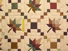 Autumn Wind Quilt -- wonderful adeptly made Amish Quilts from Lancaster Sampler Quilts, Amish Quilts, Scrappy Quilts, Baby Girl Quilts, Girls Quilts, Patch Quilt, Quilt Blocks, Quilting Projects, Quilting Designs