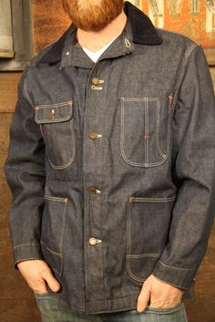 Selvedge denim workwear jacket