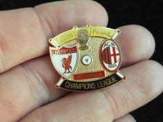 Liverpool vs Milan 2005 Champions league Football final Badge Kit Shirt Pin