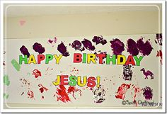 Let your kids create a birthday banner for Jesus.