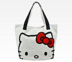 Hello Kitty canvas tote Sanrio.com Hello Kitty Clothes, Hello Kitty Bag,  Large 74893a3067