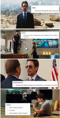 Tony Stark text posts