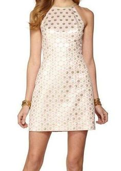 Lilly Pultizer Pearl Halter Shift Dress