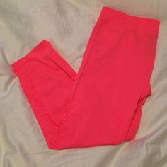 Hot pink leggings Bought for working out but never wore them. Brand new. Perfect condition. Forever 21 Pants Leggings