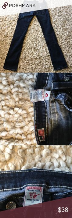 Tru Religion low rise straight leg Excellent condition straightleg jeans.  Smoke free, pet free home. True Religion Jeans Straight Leg