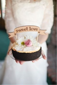 """Cute Cake Topper - """"Sweet Love"""" Banner - Ready to ship. 35.00, via Etsy."""