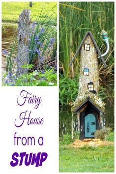 Transform an old stump into a beautiful fairy house
