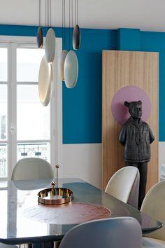 Casinha colorida: Em Paris, Mid Century Modern chiquerrímo
