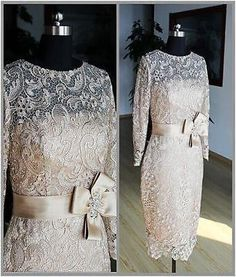 Vestido-de-encaje-2017-champan-madre-de-la-novia-trajes-Corto-Formal-Noche-Fiesta