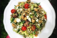 This salad makes a flavorful side dish or stand-alone salad entrée. If serving as an entrée, serve over arugula or other greens. Leftovers pack well in a jar for a brown-bag lunch. Paleo Recipes, Cooking Recipes, Grain Foods, Latest Recipe, How To Make Salad, Recipe Today, Fresh Herbs, Entrees