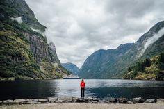 Nærøyfjorden, Sogn og Fjordane Fylke, Norway - After a rainy day arriving at this Awesome fjord! #troveon #red #norway #travel  FB: https://www.facebook.com/ShotByCanipel/ IG: https://instagram.com/canipel