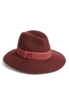 Hats are such a fun accessory to add to an outfit, and the pretty burgundy color of this fedora couldn't be more appropriate for fall. Adding to the NSale shopping cart stat!