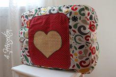 4 Freizeiten: Nähen: Taschenspieler 2 - Krempeltasche, Einkaufstasche zu Falten, Farbenmix, Applikation Herz