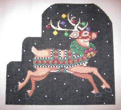 Needlepoint Rudolph Canvas